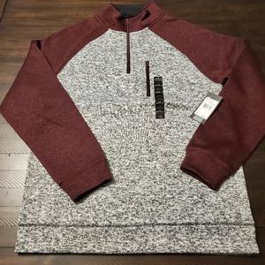 Other - Sherpa lined collar Sweater Fleece Zip Pullover